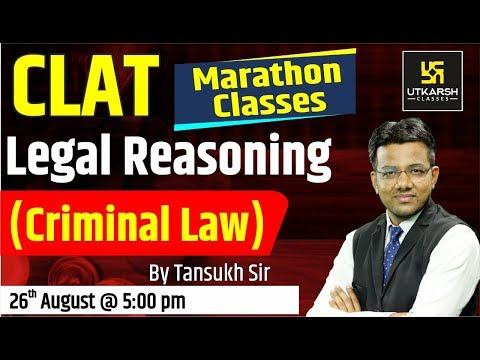Legal Reasoning | Criminal Law | CLAT Marathon Classes | By Tansukh Sir