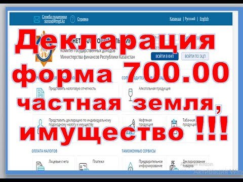 Заполнение формы 700.00  Декларация по транспортному налогу, земельному налогу и налогу на имущество