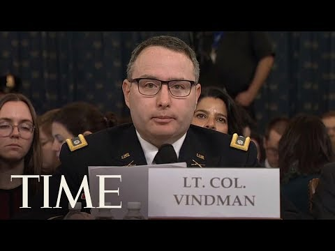 Vindman & Williams Give Opening Statements As Trump Impeachment Open Hearings Continue   TIME