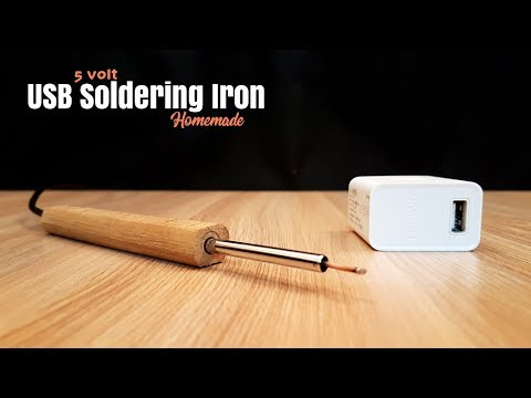 Mini Portable USB Soldering Iron 5 Volt - Homemade