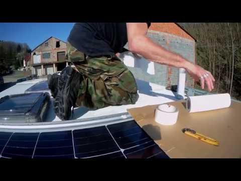 preiswerte Solaranlage für Wohnmobil oder Wohnwagen installieren, 270 watt für unter 700€