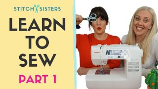 In Lockdown? Learn To Sew | Beginner Sewing Course - Part 1 Of 3