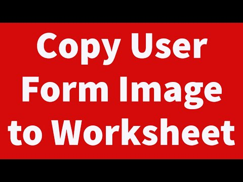 Copy User Form Image to Worksheet Automatically