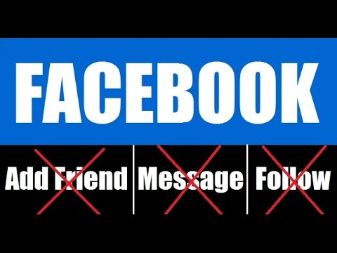 How to Hide Add Friend, Message and Follow Button on Facebook Profile 2018