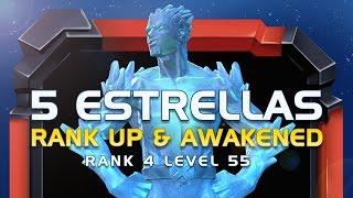 Iceman 5 Star! Rank 4 Level 55 and Awakaned! | Marvel Batalla de Superheroes