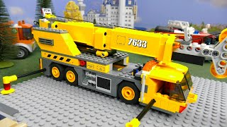 Fire Truck, Tractor, Crane, Train, Police Car, Cars & Excavator LEGO Toy Vehicles for Kids