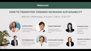 How to transition towards increased sustainability