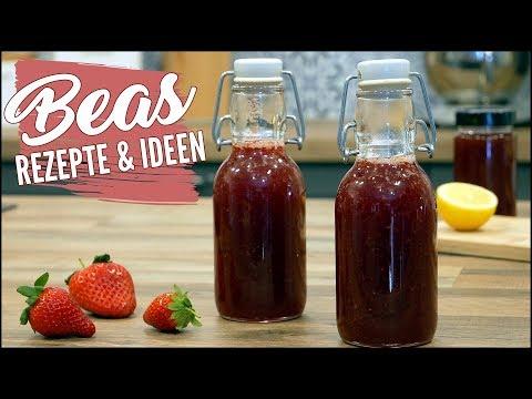 Erdbeersirup Rezept | Fruchtsirup aus Erdbeeren selber machen - Grundrezept