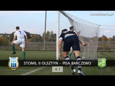 Bramka na 3:0 Pawła Łukasika w meczu Stomil II Olsztyn - Pisa Barczewo