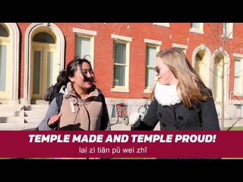 Chinese Students Teach Temple Cheers in Mandarin