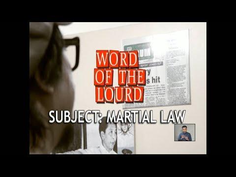 [News5]  #WordoftheLourd | Subject: Martial Law
