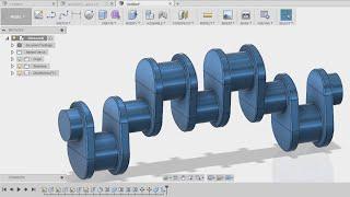 design of  crankshaft - fusion 360 tutorial