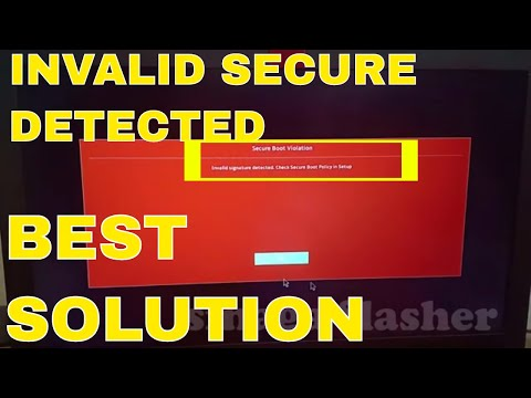 secure boot violation invalid signature detected check secure boot