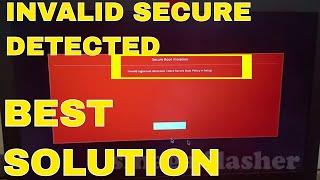 secure boot violation invalid signature detected windows 10