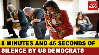 George Floyd Tribute: US Democrats Kneel On Their Knees - Download this Video in MP3, M4A, WEBM, MP4, 3GP