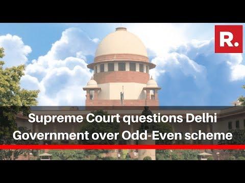 Supreme Court Questions Delhi Government Over Odd-Even Scheme