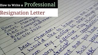How to Write a Professional Resignation Letter? Resignation letter to company, resigning letter eng.