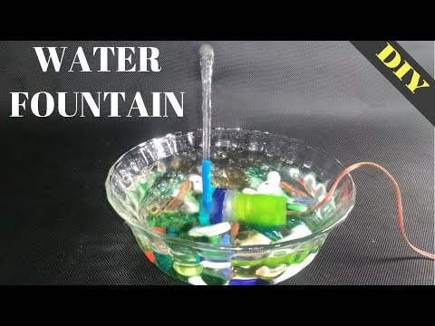 How to make a water fountain at home easy and simple | DIY