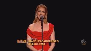 Celine Dion   Recovering (Live On Stand Up To Cancer, September 9th 2016)