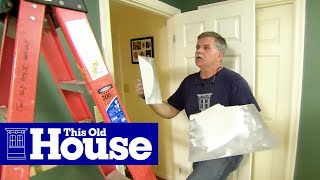 How to Repair a Cracked Drywall Ceiling | This Old House