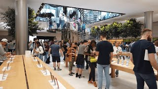 NYC Walk ⁴ᴷ⁶⁰ : Apple Store 5th avenue (newly remodeled) - New York