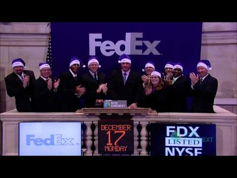 FedEx Corp. Visits the NYSE to Celebrate Record-Setting Holiday Shopping and Shipping Season