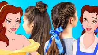 Belle Inspired Braids Hairstyle Tutorial | Disney Style