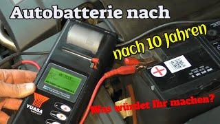 10 Jahre alte Autobatterie - welche Power hat sie noch