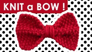 How to Knit a Bow in Seed Stitch