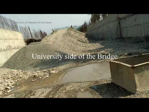 Malakand University Under Construction Link Road to Thana