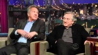David Letterman -_- Robert Deniro & Dustin Hoffman - Part 1 - 2010.12.17