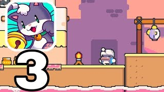 SUPER CAT TALES 2 - Gameplay Walkthrough Part 3 - Level 2-4 - 2-7 All 3 Peppers