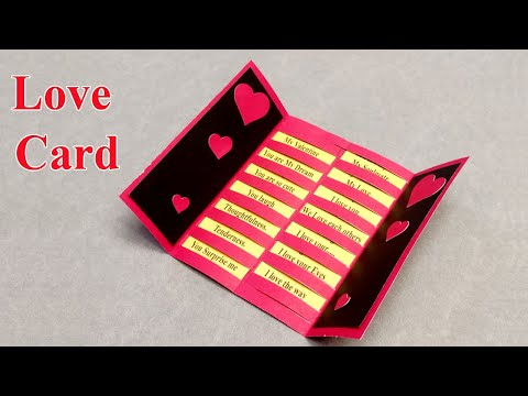 How to Make Love Cards _ Valentine Cards Handmade Easy _ Valentine Day Card 01
