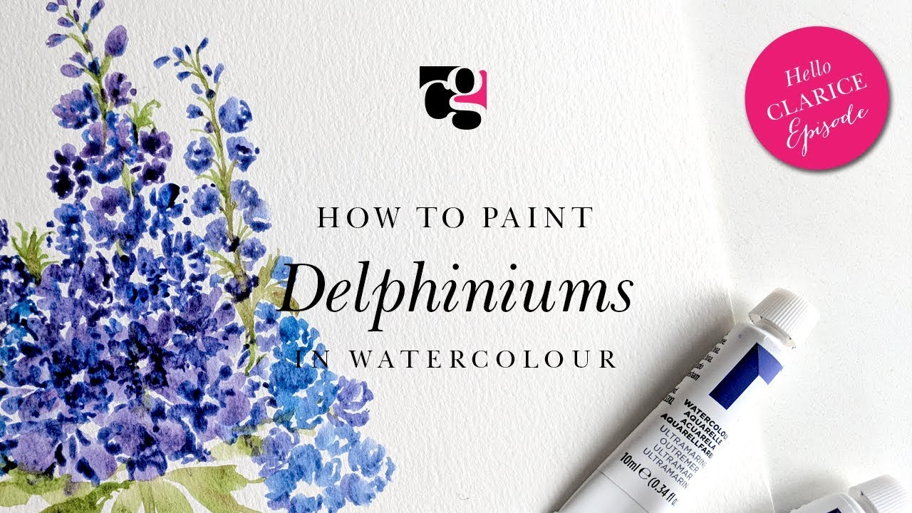 How to Paint Delpheniums in Watercolour