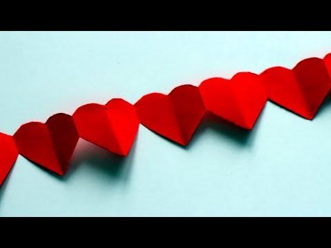 Basteln mit Papier: 'Herzgirlande' für Valentinstag, Hochzeit, Muttertag & Weihnachten [W+]