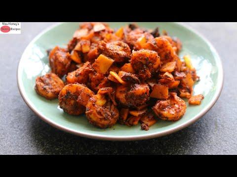 Prawns Roast Recipe – Kerala Style Chemmeen Roast – ചെമ്മീൻ റോസ്റ്റ്
