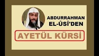 AYETÜL KÜRSİ.. Abdurrahman El-Ussi