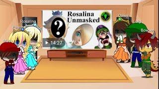 Mario characters react to 'rosalina unmasked pt 1' gacha club