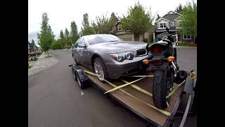 Sergey Pip VLOG 17 I Purchased ANOTHER salvage title BMW and a Honda Motorcycle from IAAI