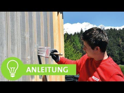 Carport aus Holz streichen: Schutz & Pflege - DIY Tutorial