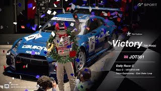 JOT381 GRAN TURISMO SPORT 180918 TOKYO EXPRESS NISSAN GT-R 1st to 1st ONLINE RACE 10 LAPS 769th WIN