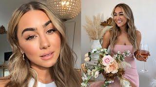 WEDDING MAKEUP & HAIR TUTORIAL (Drugstore & In-Depth) | Julia Havens
