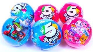 5 Surprise Zuru Ball Unboxing Blind Bag Toy Review 5 СЮРПРИЗОВ шар ДЛЯ ДЕТЕЙ девочки VS мальчики