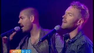 Boyzone performing 'Love Is A Hurricane' on GMTV - 20th May 2010