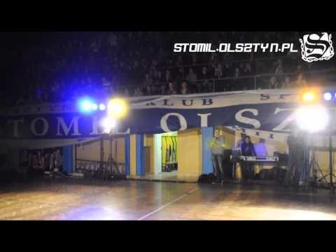 Doping kibiców Stomilu Olsztyn na prezentacji