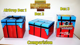 Pubg Toys 3 Air Drop Boxes Opening | Comparision