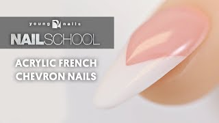 ACRYLIC FRENCH CHEVRON NAILS