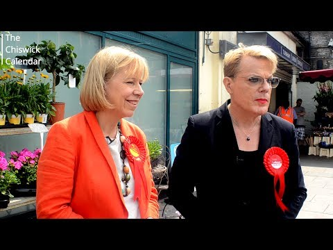 Eddie Izzard says 'weak and wobbly' Theresa May should buy a pair of flip flops