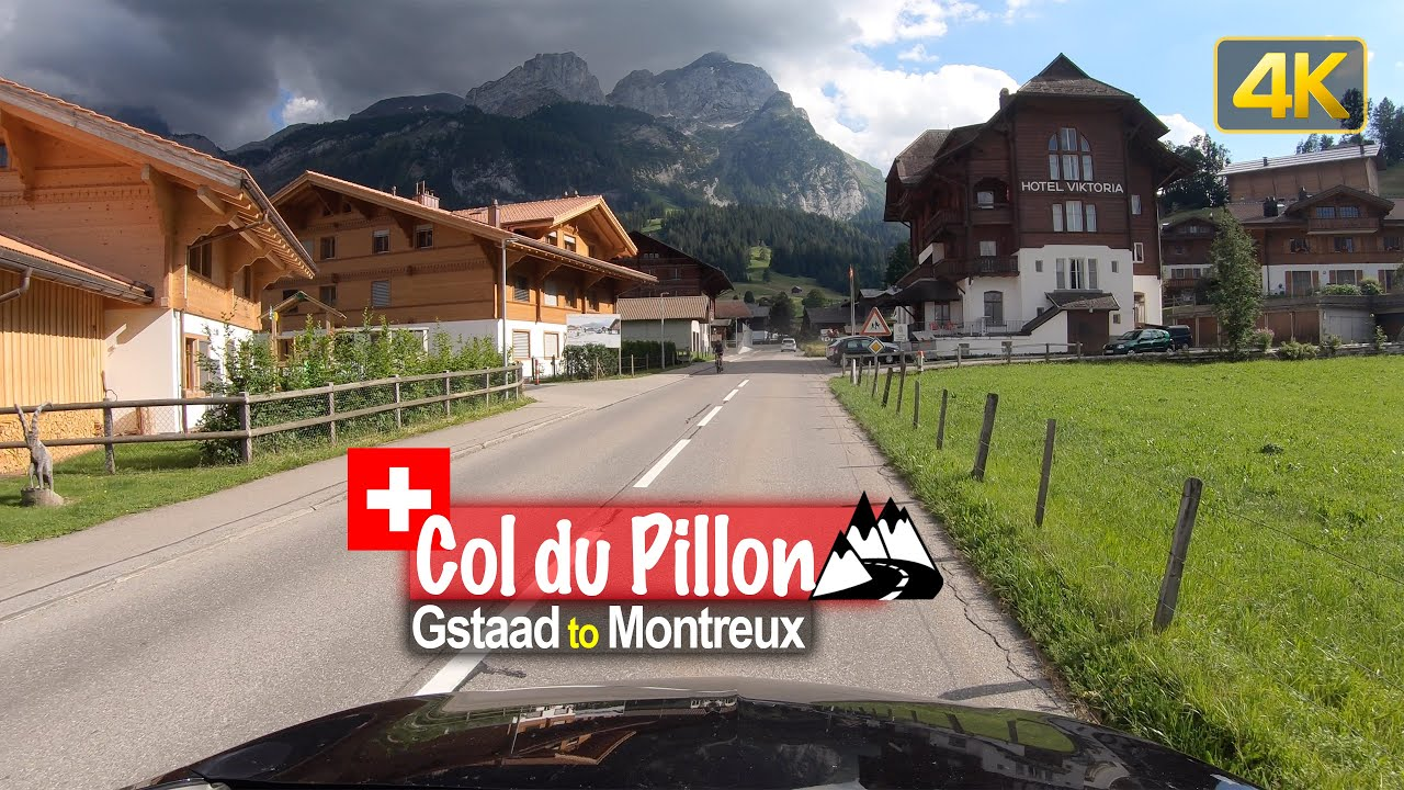 Driving from Gstaad to Montreux via the Col du Pillon mountain pass – Scenic Drive Switzerland!