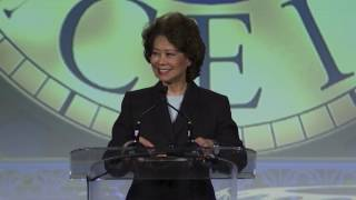 Secretary of Transportation Elaine Chao at the 2017 CEI Dinner and Reception